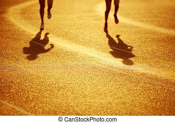 Racing around the curve