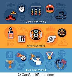 Racing Banner Set