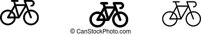 Racing Bicycle Icons vector design