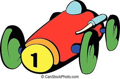 Racing car icon, icon cartoon