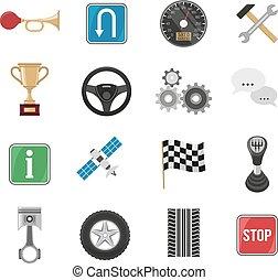Racing Car Icon Set