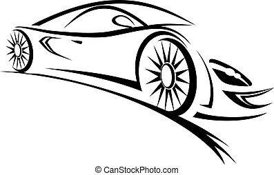 Racing car - Silhouette of racing car for sports design