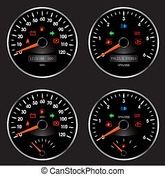 Racing Car Speedometer