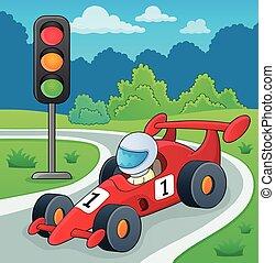 Racing car theme image 2 - eps10 vector illustration.