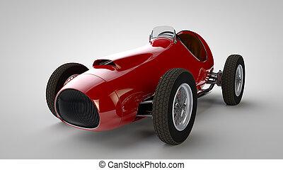 Racing car.3D render