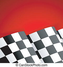 Racing Checkered Flag Finish - Concept - Winner. Racing...