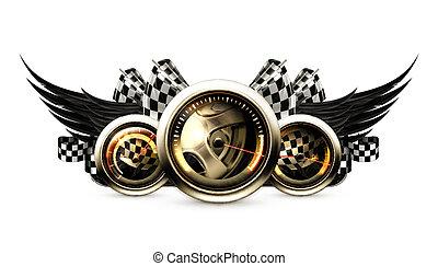 racing, emblem