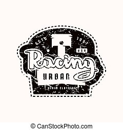 Racing emblem for t-shirt