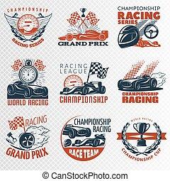 Racing Emblem Set In Color