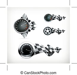 Racing emblems icons