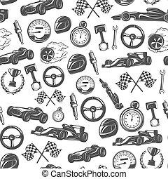 Racing Emblems Pattern