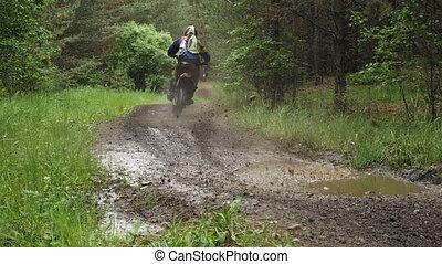 racing enduro motorcycle racer