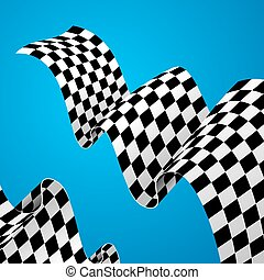 Racing Flag Background. Vector