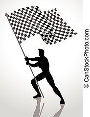 Racing Flag Bearer