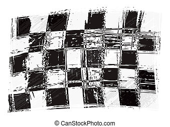 Racing flag - Checkered flag created in grunge style