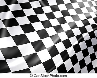 Racing Flag - Checkered racing flag - high detailed...