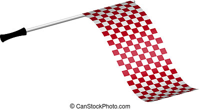 Racing flag in red colour