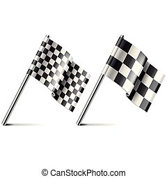 Racing flag isolated on white vector illustration