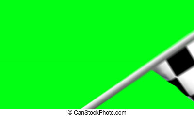 racing flag wiper & alpha - racing flag wiper. Waving...