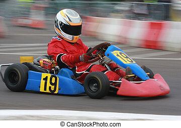 A racing cadet go kart.