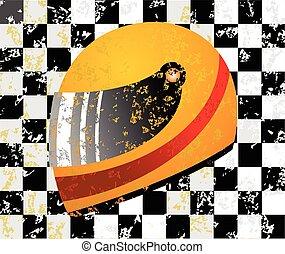 Racing helmet vector illustration