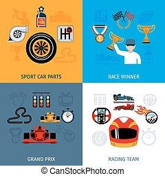 racing, iconerne, sæt