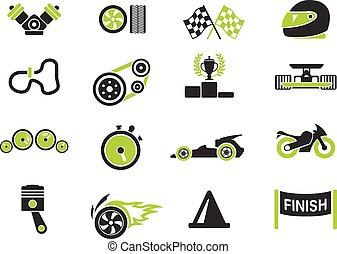 Racing icons - Racing simply symbols for web and user...