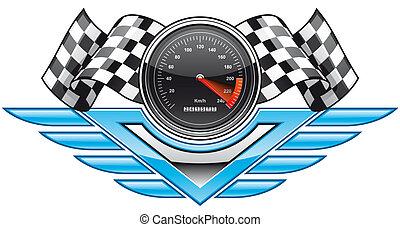Racing insignia - Isolated illustration Racing insignia