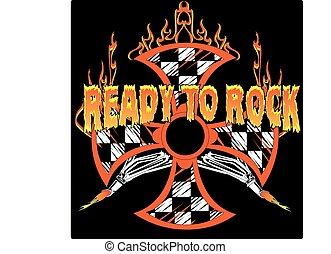 RACING MALTESE CROSS.eps - Ready to Rock Race shirt design,...
