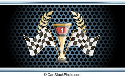 Racing prize grunge - Racing prize vector illustration....