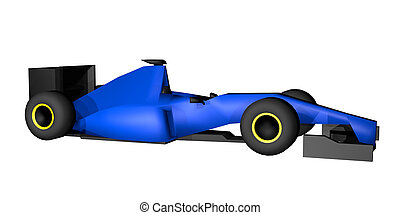 Racing render car