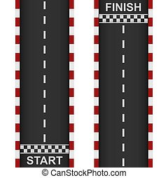 Racing road start and finish