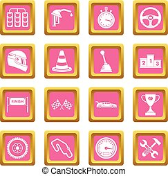 Racing speed icons pink