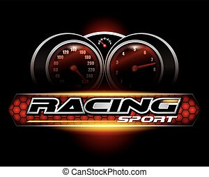 RACING SPORT CONCEPT for LOGO DESIGN VECTOR