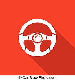 Racing steering wheel. Vector Illustration.