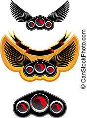 Racing symbols and icons