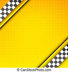 Racing template, taxi backdrop