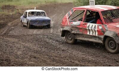 Racing vintage cars