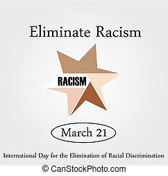 racism-, het tonen, grafisch, eenheid, nee