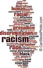 racisme, woord, wolk