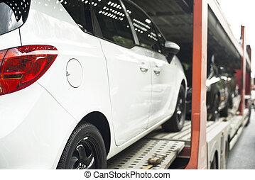 rack car - automobile transporter
