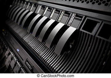 rack, centrum, data, san, server