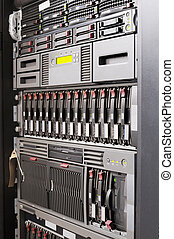 Rack mounted system storage and servers