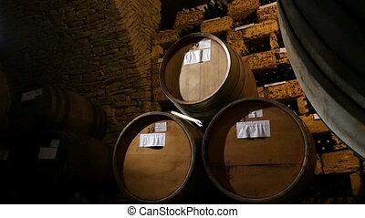 Rack Of Barrels Of Alcohol