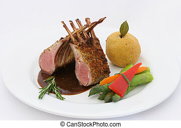 Rack of lamb - Rack of Lamb with herb crust