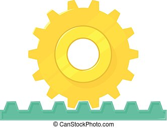 Rack pinion icon, cartoon style - Rack pinion icon. Cartoon...