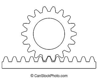 Rack pinion illustration - Illustration of the rack pinion...