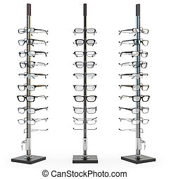 Rack with glasses