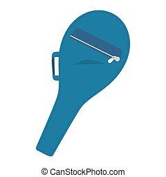racket bag tennis icon vector
