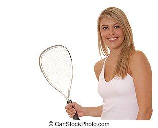 Racket Ball Girl